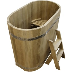 Купель из дуба Размер: высота 1200 мм, диаметр 1200*780 мм, толщина 40 мм