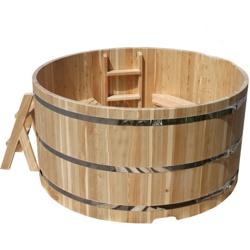 Купель из лиственницы Размер: высота 1000 мм, диаметр 2000 мм, толщина 40 мм
